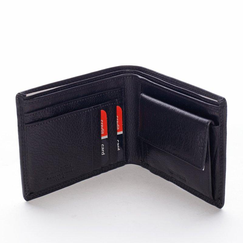 Pánská klasická kožená peněženka Alfonso černá