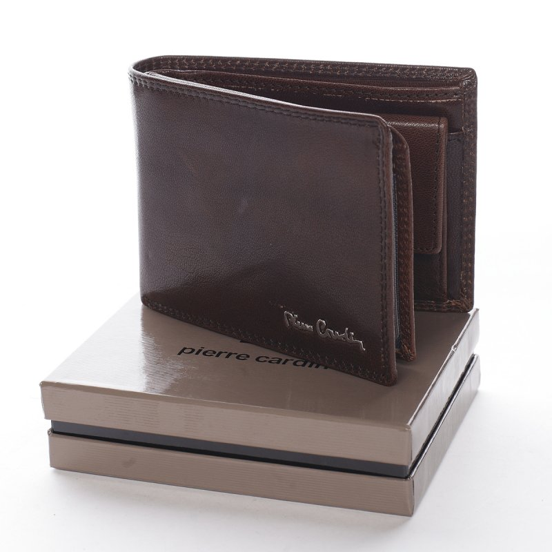 Módní pánská kožená peněženka Giacomo hnědá