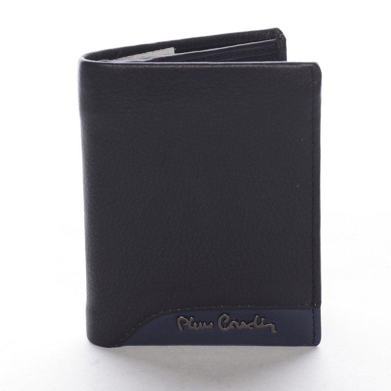 Stylová kombinovaná pánská kožená peněženka Celestino černá/modrá