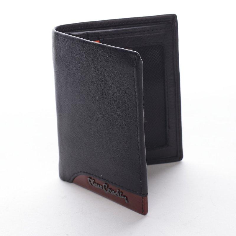 Stylová kombinovaná pánská kožená peněženka Celestino černá/červená