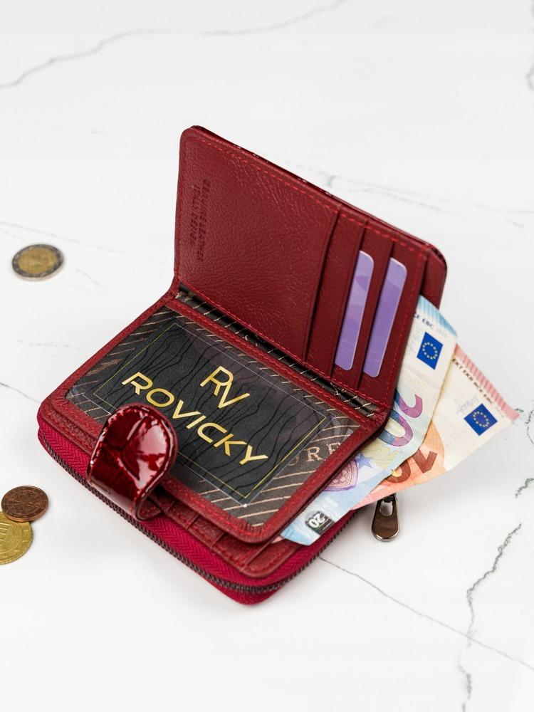 Kožená dámská peněženka Anna, čevená