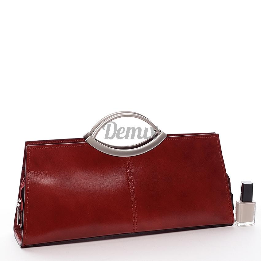 Dámská kožená kabelka Loreta red