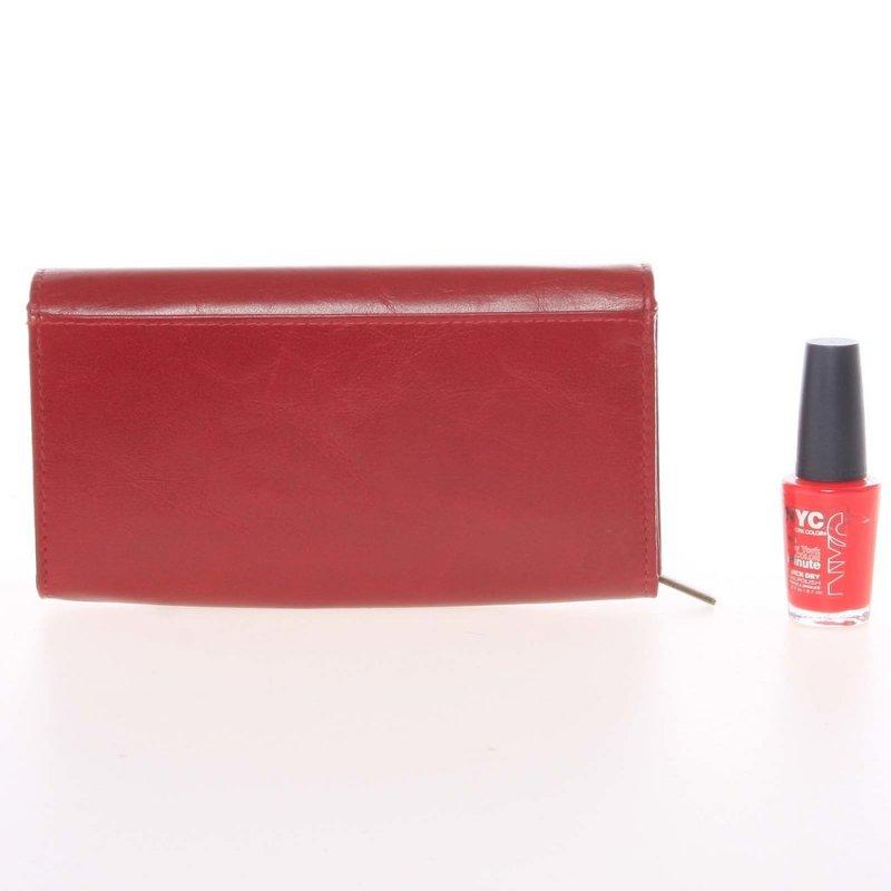 Dámská kožená peněženka Simmaco červená