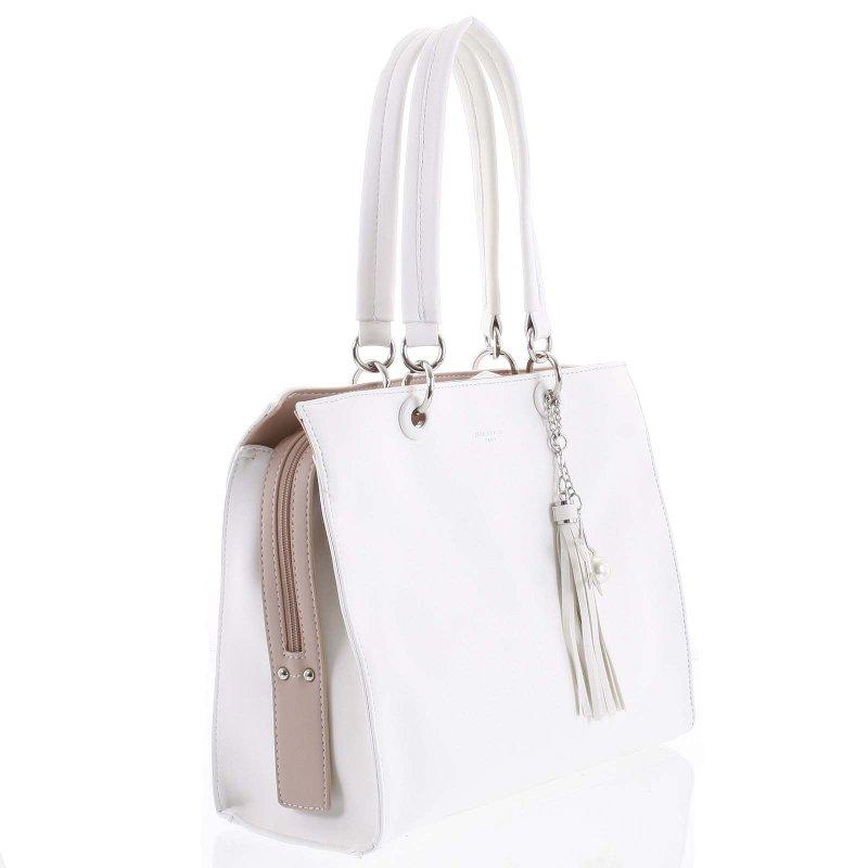 Stylová dámská koženková kabelka Silvia bílá