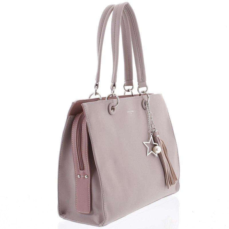 Stylová dámská koženková kabelka Silvia fialová
