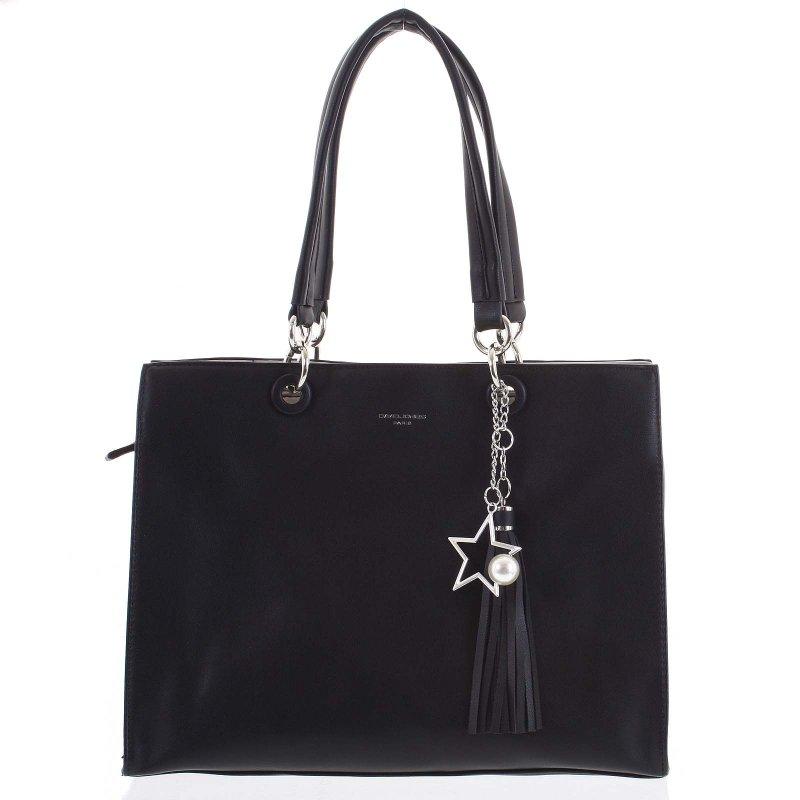 Stylová dámská koženková kabelka Silvia černá