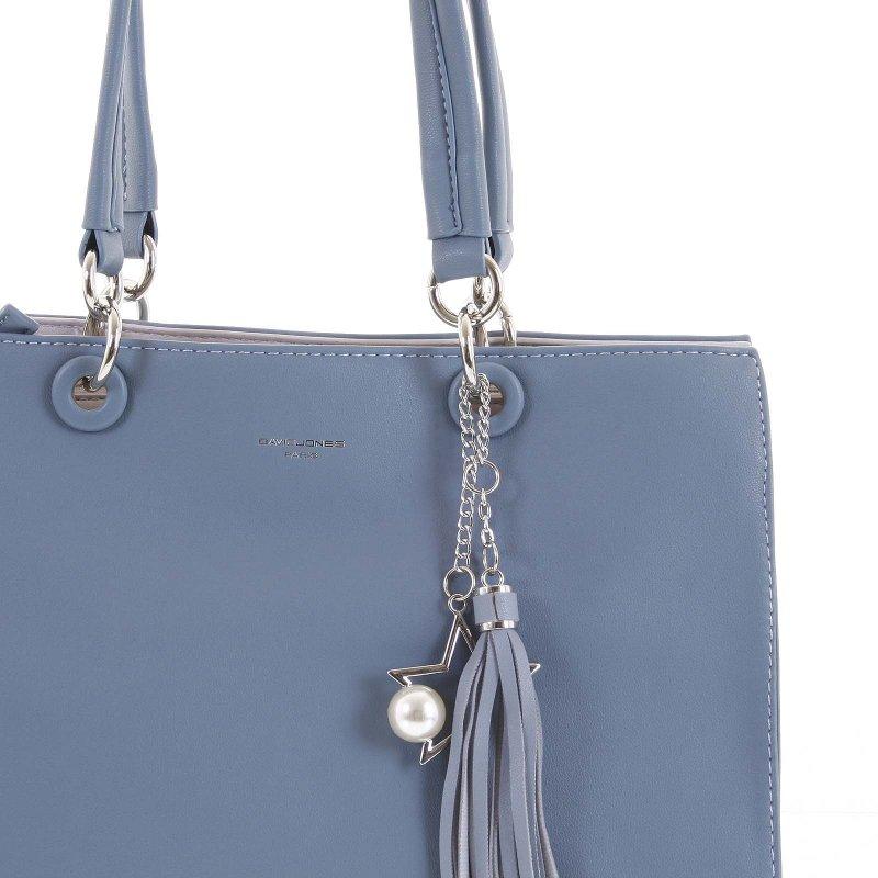 Stylová dámská koženková kabelka Silvia modrá