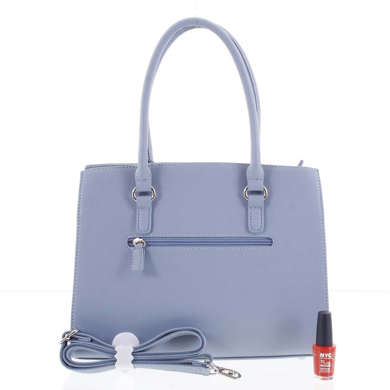Dámská kufříková kabelka s potiskem Alessia modrá