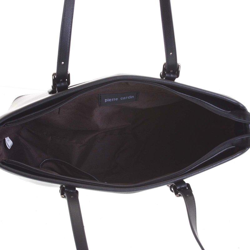 Luxusní dámská koženková kabelka Sara černá