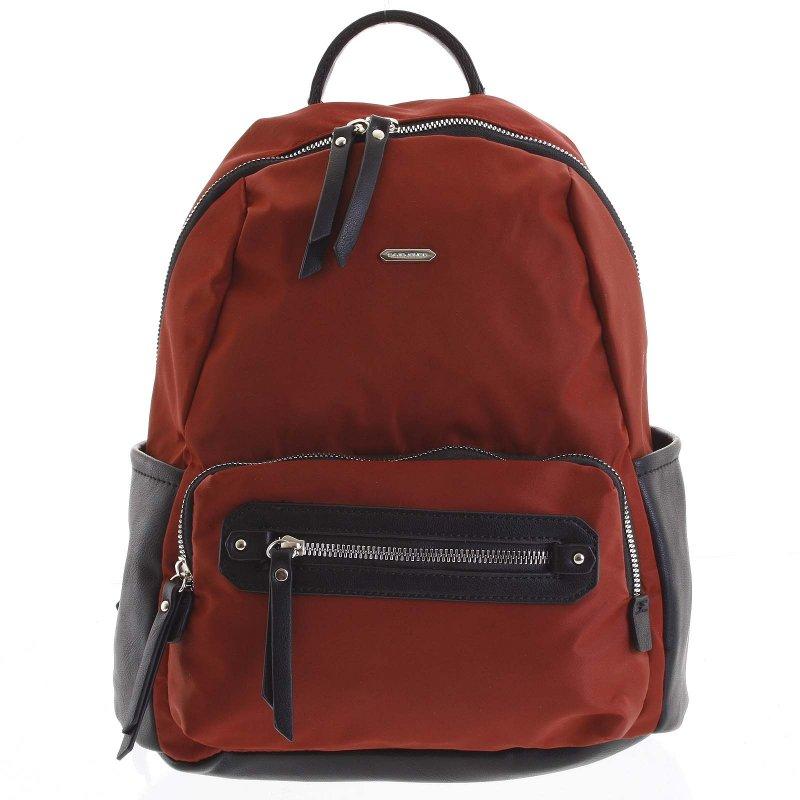 Látkový dámský batoh Federica červený