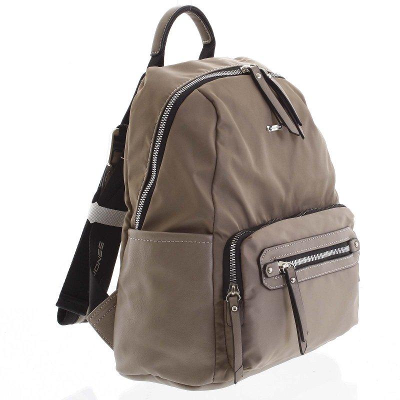 Látkový dámský batoh Federica šedá