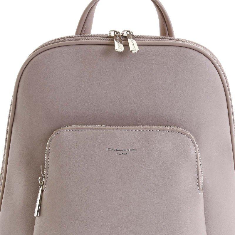 Jemný dámský koženkový batůžek Francesca růžová