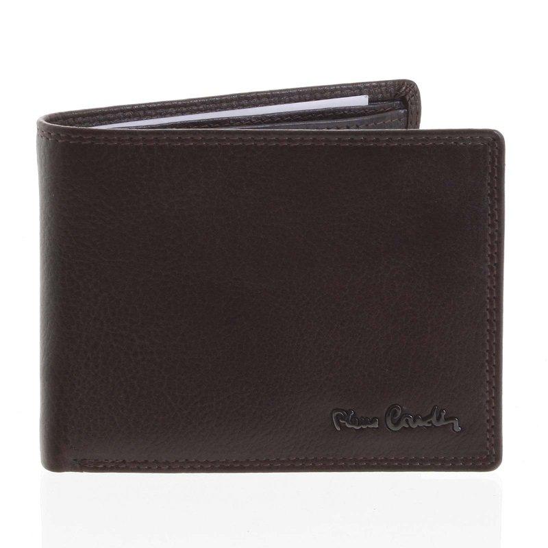 Klasická kožená pánská peněženka Matteo tmavě hnědá