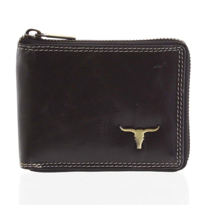 Stylová pánská kožená peněženka Marco černá
