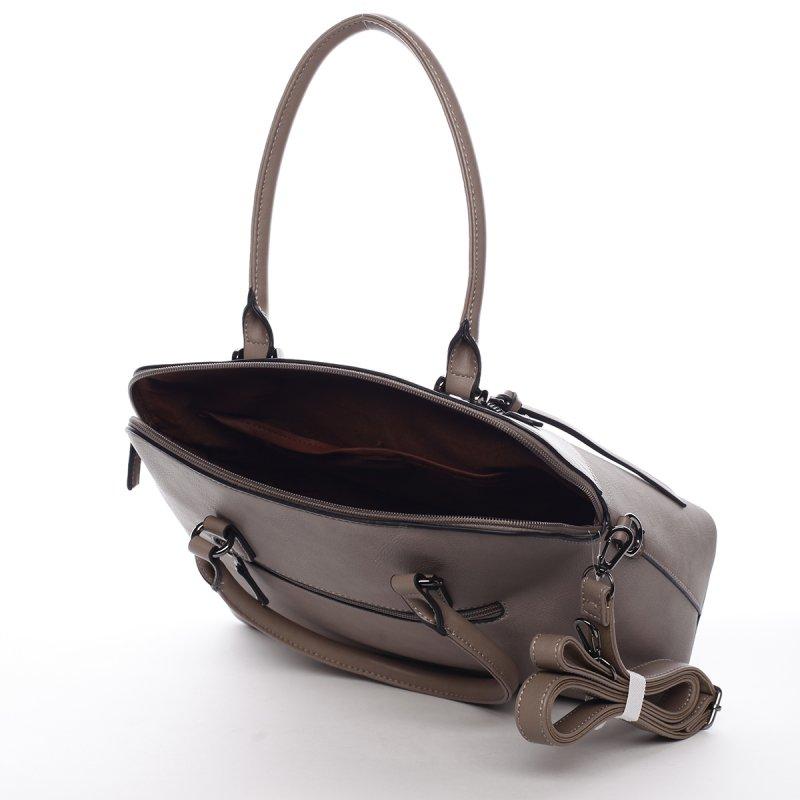 Elegantní dámská koženková kabelka Agata béžová