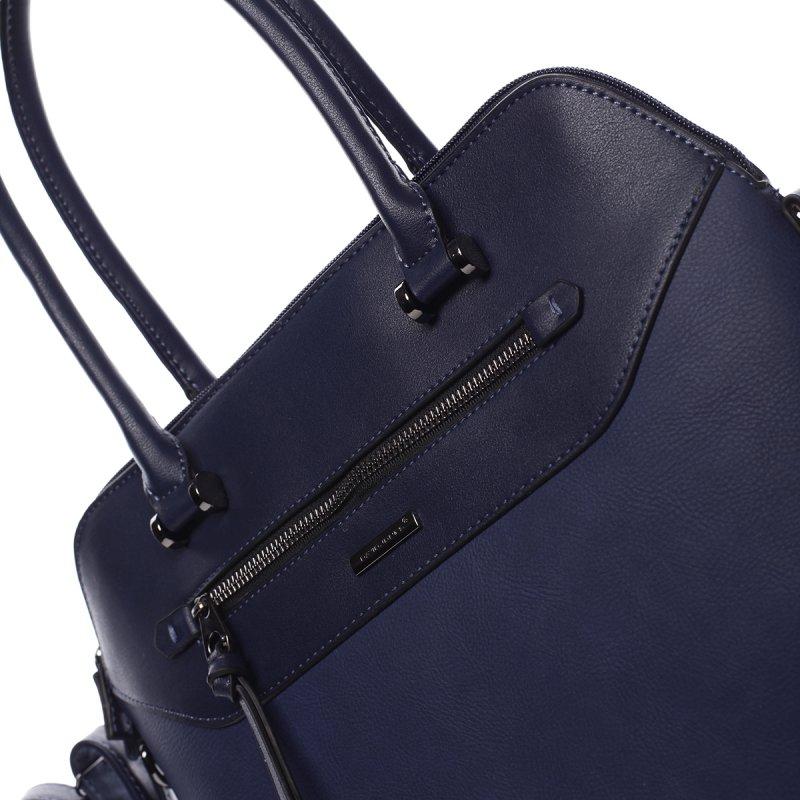 Elegantní dámská koženková kabelka Agata modrá