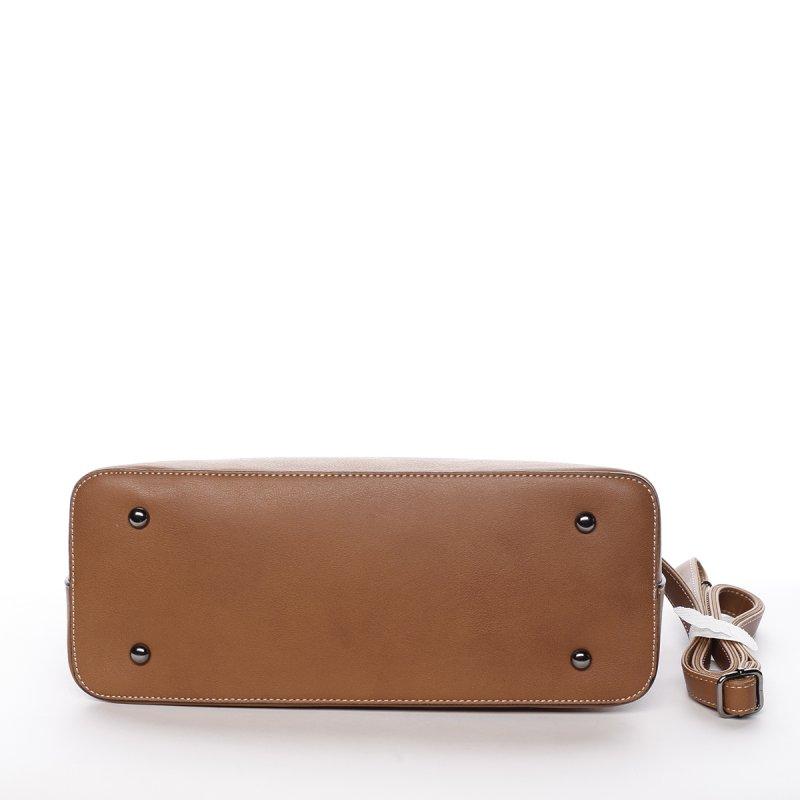 Elegantní dámská koženková kabelka Agata koňaková