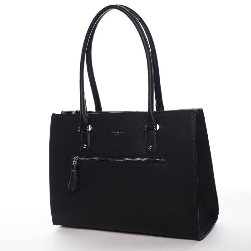 Pohodlný koženkový shopper Maura černá
