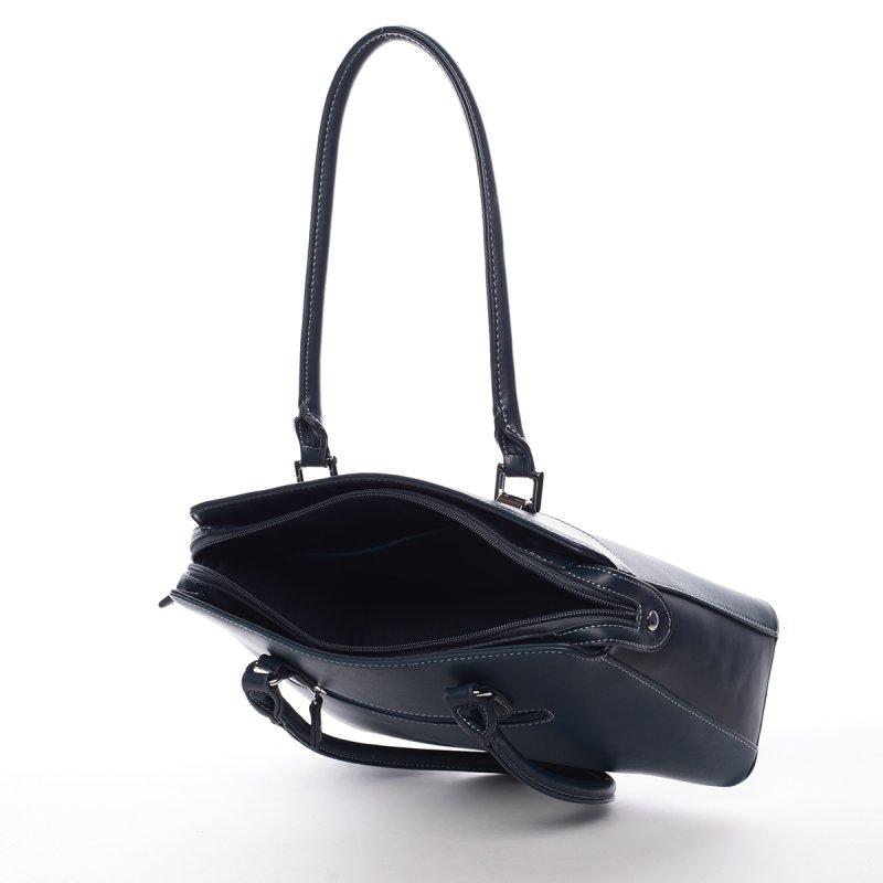Dámská kufříková kabelka s dlouhým uchem Severa zelená