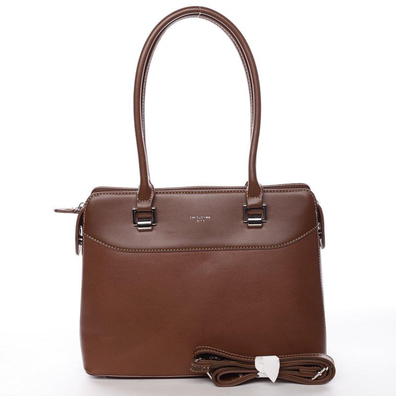 Dámská kufříková kabelka s dlouhým uchem Severa koňaková