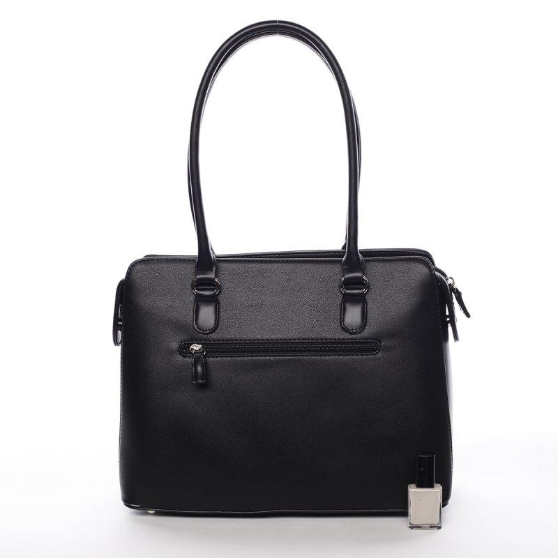 Dámská kufříková kabelka s dlouhým uchem Severa černá