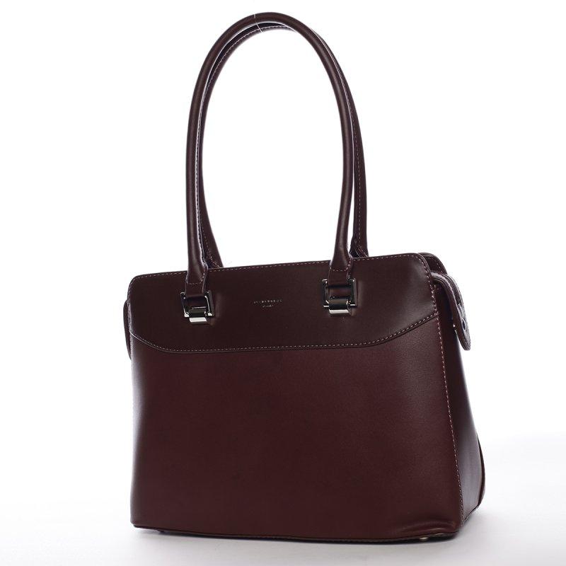 Dámská kufříková kabelka s dlouhým uchem Severa vínová