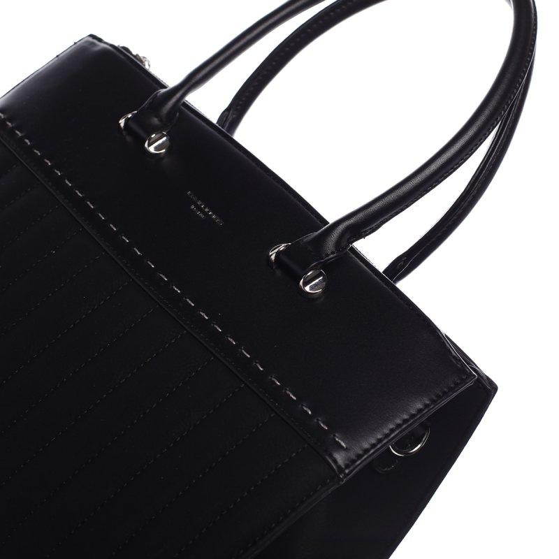 Luxusní dámský koženkový kufřík Rosina černá