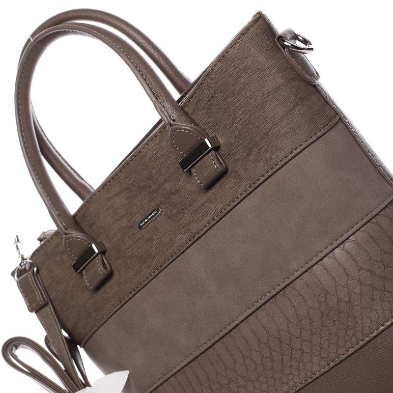 Stylová dámská kombinovaná kabelka Patrizia hnědá