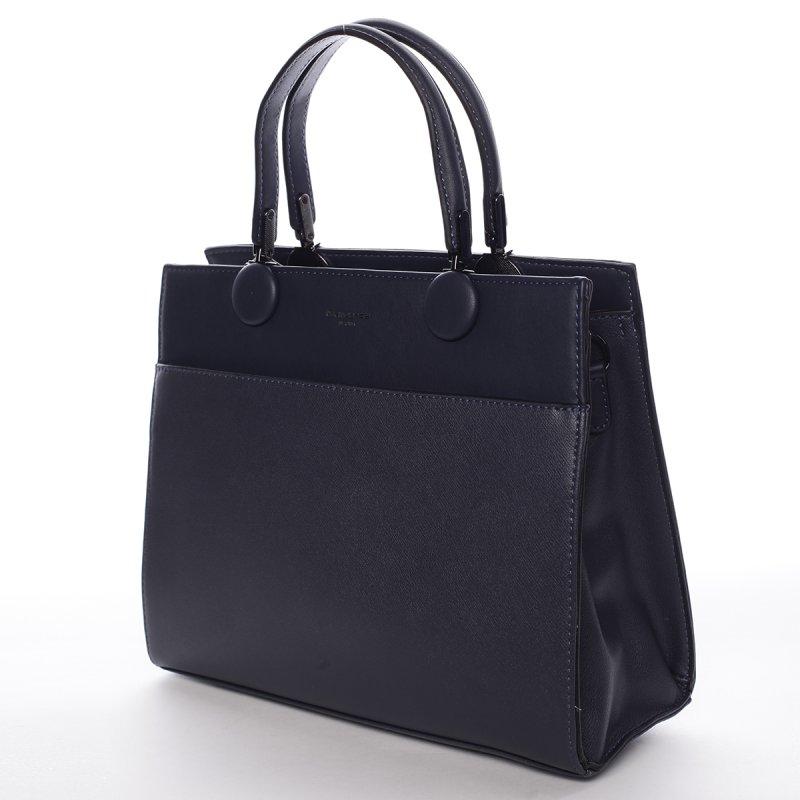 Módní velká dámská koženková kabelka Sisto modrá