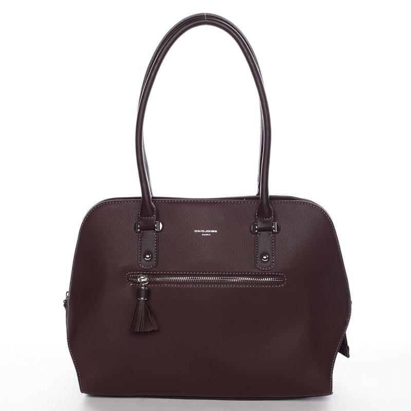 Praktická dámská kabelka přes rameno Ines, tmavá bordó