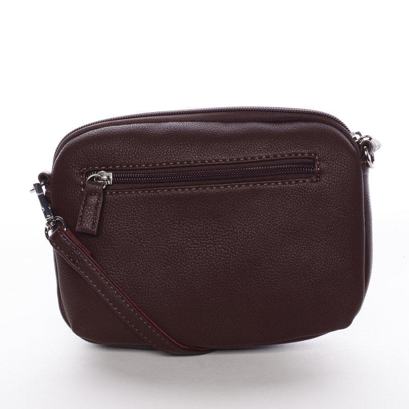 Minimalistická dámská crossbody kabelka Natalia, tmavě fialová