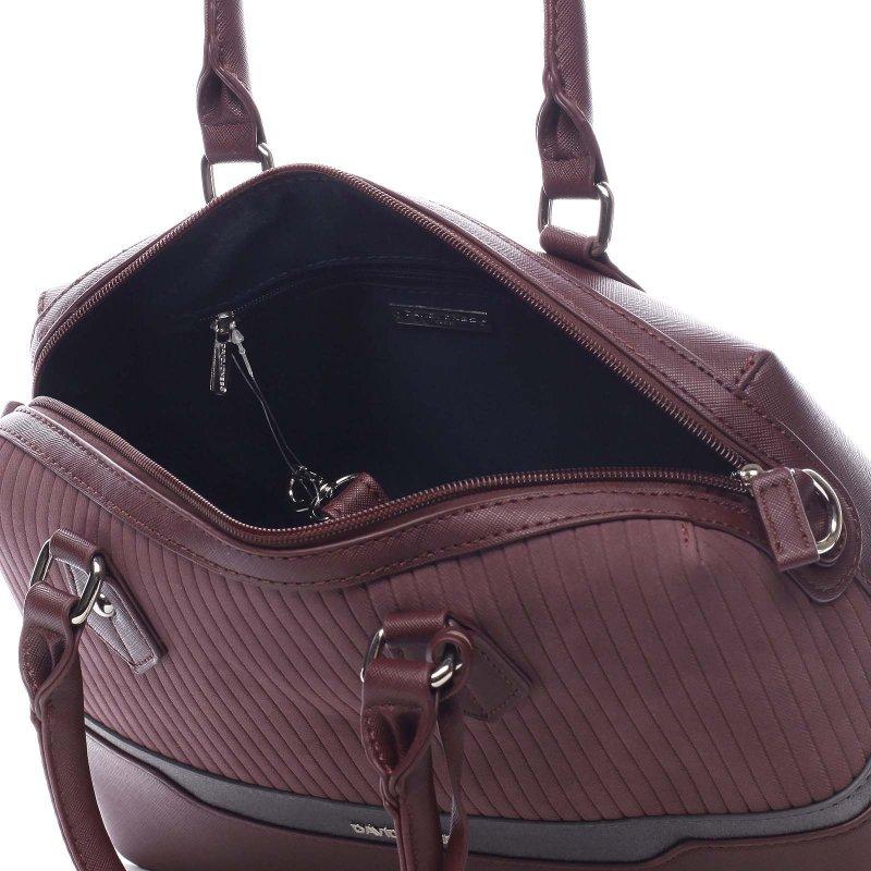 Moderní kabelka do ruky DJ Tiara, tmavá bordó
