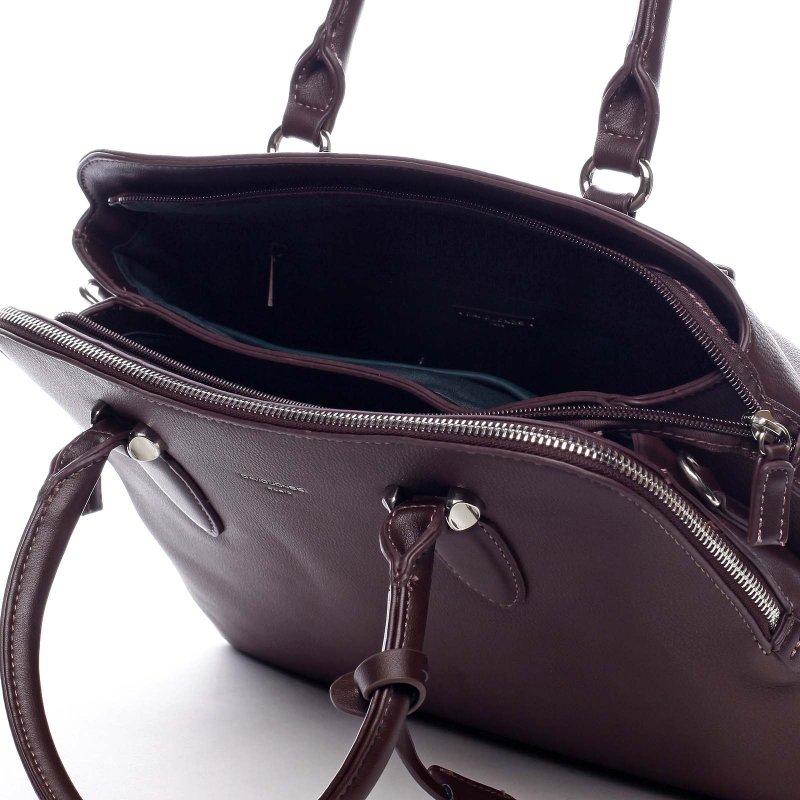 Elegantní kabelka do ruky Thalia, tmavá bordó