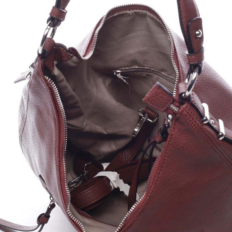 Praktická kabelka přes rameno Selena, bordó