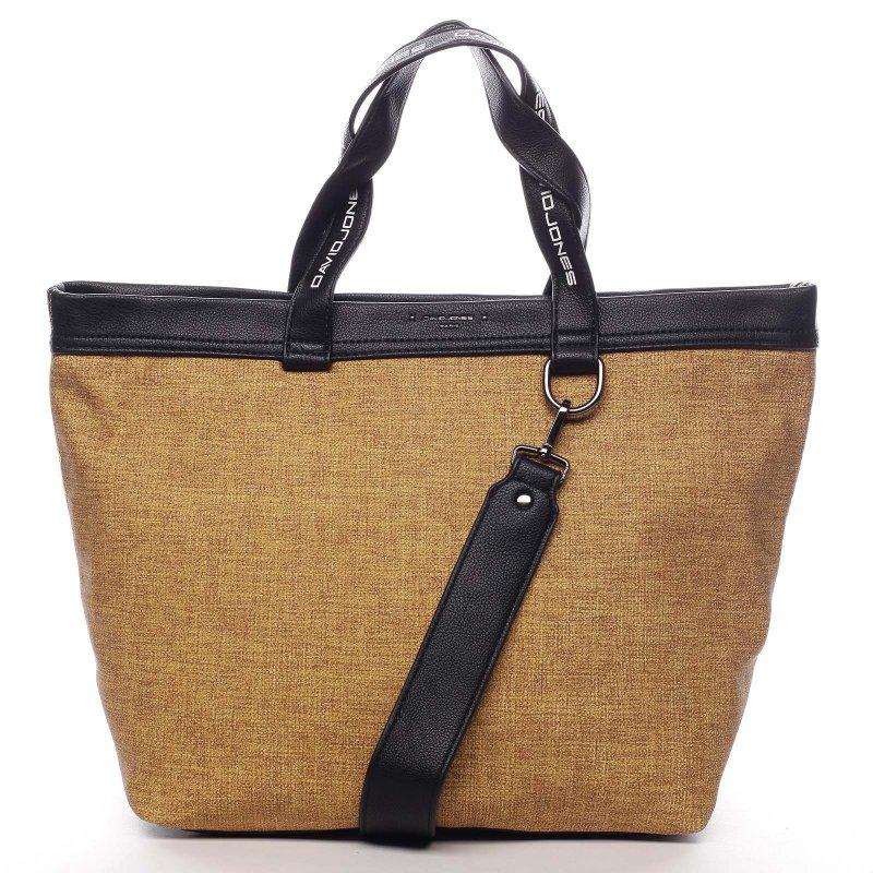 Sportovní velká dámská taška Agostino žlutá