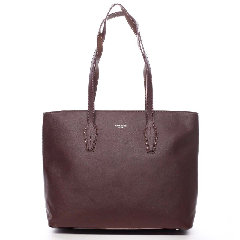 Pohodlná velká dámská taška na rameno Beda vínová