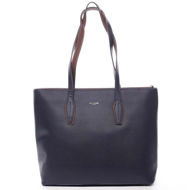 Pohodlná velká dámská taška na rameno Beda modrá