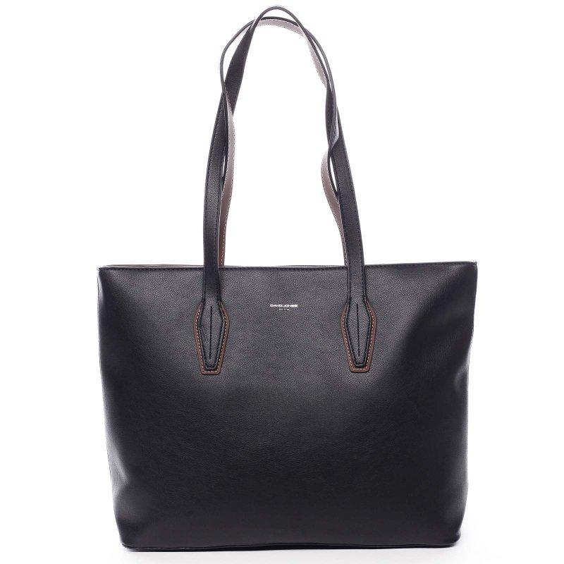 Pohodlná velká dámská taška na rameno Beda černá