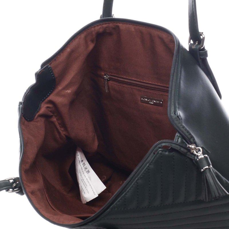 Originální dámská koženková kabelka Vincenzo zelená