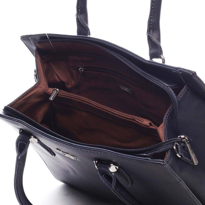 Elegantní dámská koženková kabelka Ilario modrá