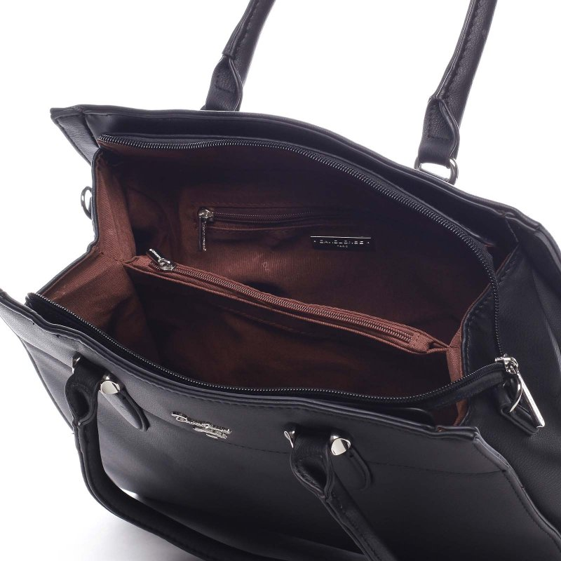 Elegantní dámská koženková kabelka Ilario černá