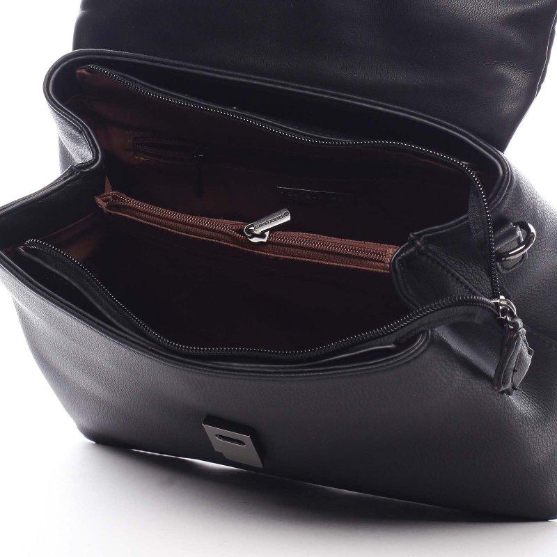 Moderní dámská koženková  crossbody Desidero černá