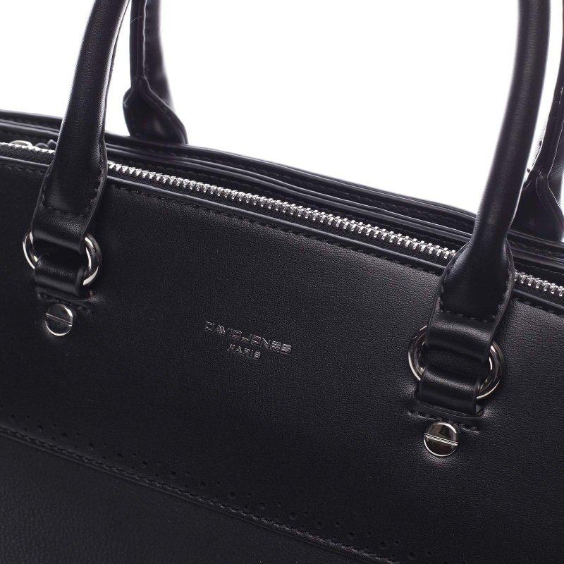 Decentní dámská koženková kabelka Rita černá