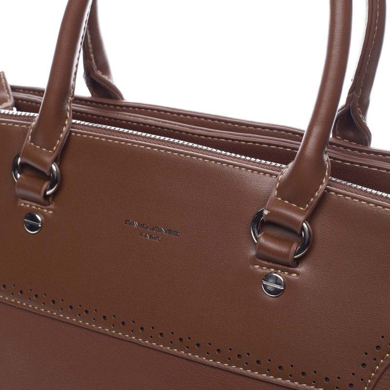 Decentní dámská koženková kabelka Rita hnědá