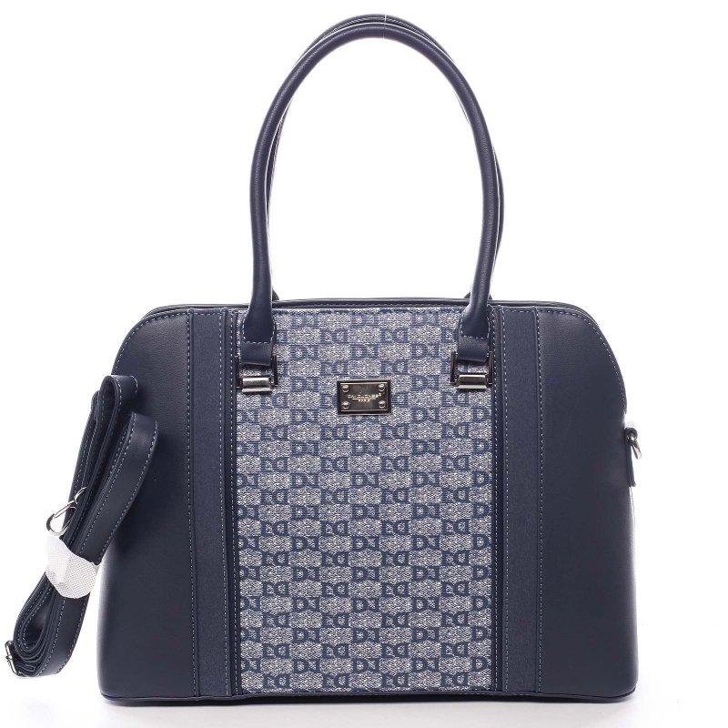 Módní dámská koženková kabelka Domenico modrá