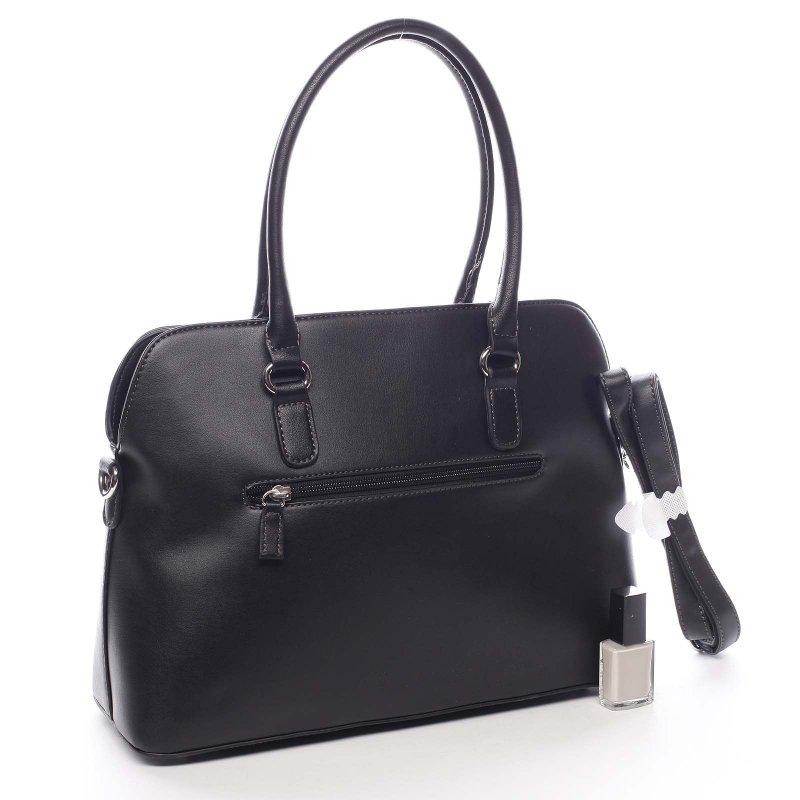 Módní dámská koženková kabelka Domenico černá