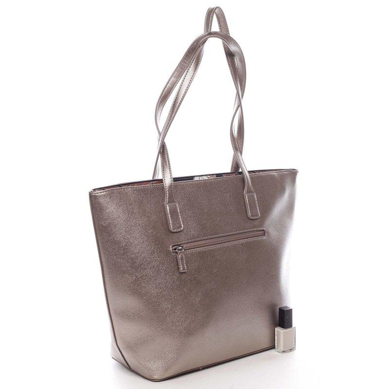 Nepřehlédnutelná praktická dámská taška Gottardo zlatá
