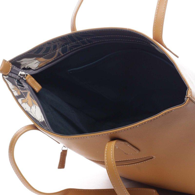Nepřehlédnutelná praktická dámská taška Gottardo žlutá