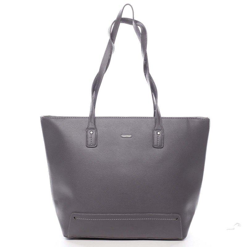 Nepřehlédnutelná praktická dámská taška Gottardo šedá