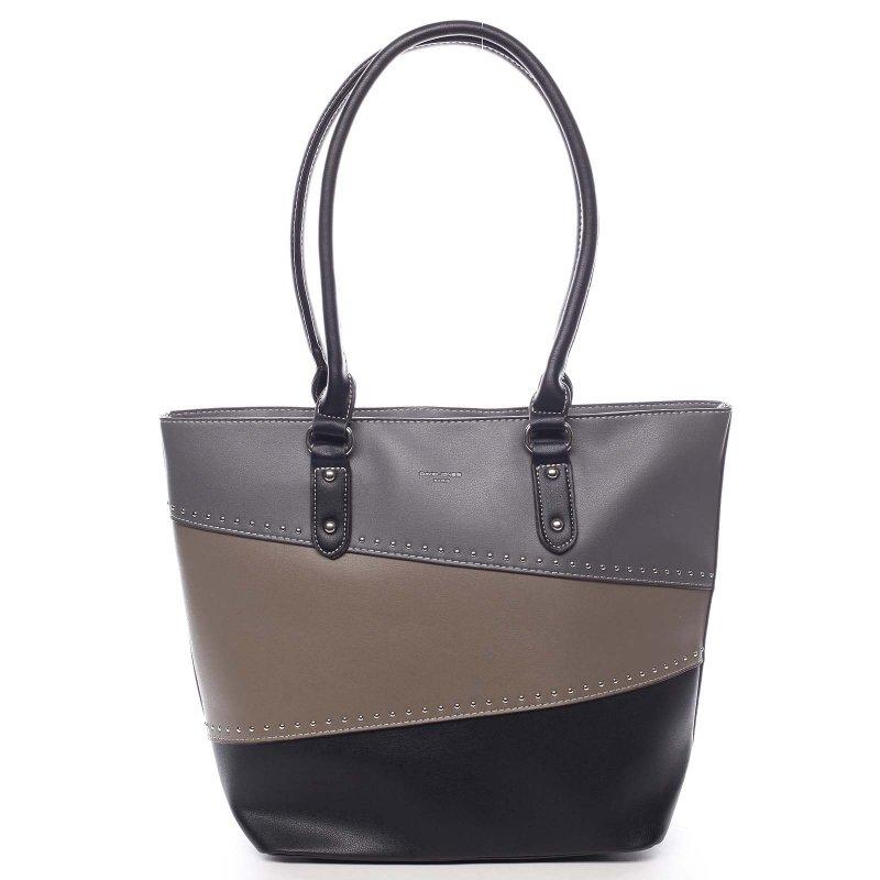 Hravá dámská koženková taška Ciriaco černá